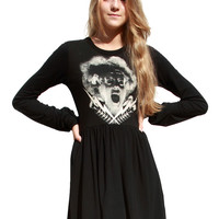Bride Of Frankenstein Long Sleeve Skater Dress