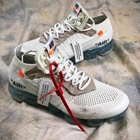 OFF WHITE Nike Air Vapormax Mesh White Sport Running Shoes  - Best Online Sale