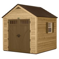 Suncast 8 ft. x 8 ft. Cedar and Resin Hybrid Storage Shed-WRS8800 - The Home Depot
