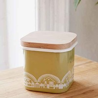 Small Mini Modern Enamel Storage Jar