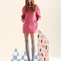 Pocket Front Sleeve Knitted Dress Shirt