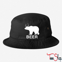 Bear Deer Beer bucket hat