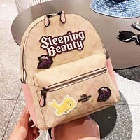 Coach Lady Fashion Simple Casual Joker Backpack Travel Backpack