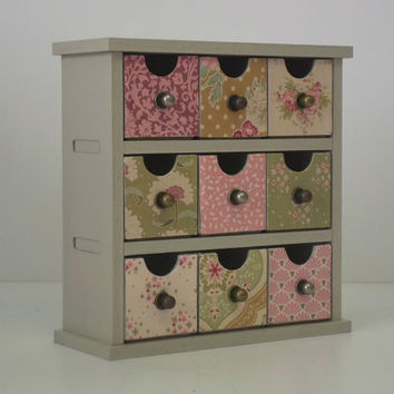 Floral Mini Drawer Craft / Scrapbooking / Office Storage