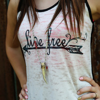 Horn/Feather Charm Necklace