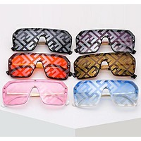 FENDI Summer Fashion Women Men Chic F Letter Shades Eyeglasses Glasses Sunglasses