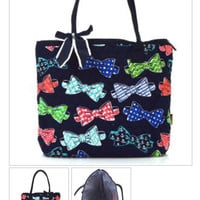 Bow Tie Print Tote