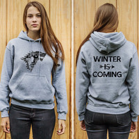 Game of Thrones Winter is Coming 2 Sided Adult Unisex Hoodie
