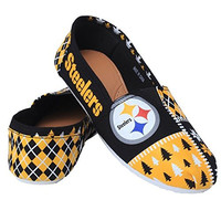 Pittsburgh Steelers Forever Collectibles Women's Ugly Canvas Slip On Shoes Sizes S-XL w/ Priority Shipping