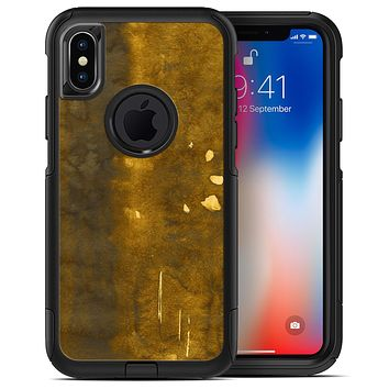 Stained Watercolor with Gold Specks - iPhone X OtterBox Case & Skin Kits
