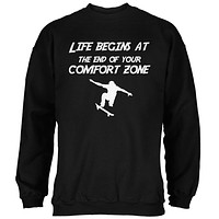 Comfort Zone Skateboarding Black Adult Sweatshirt