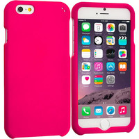 Hot Pink Hard Rubberized Case Cover for Apple iPhone 6 Plus 6S Plus (5.5)