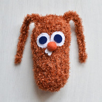 Cute Knitted Bunny Toy - Adorable Stuffed Rabbit - Gift for Kid