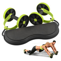 Ab Roller Core Double AB Wheel Fitness Home Workout Tool Gym Equipment Women Men