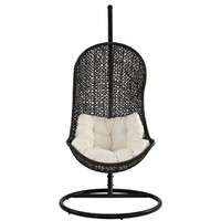Parlay Swing Outdoor Patio Lounge Chair, Espresso White