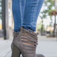 Downtown Denver Booties - Dark Taupe