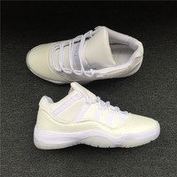 "Air Jordan 11 ""Frost White"" AJ11 Women Men Basketball Shoes"