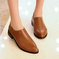 Pointed Toe Pu Leather Pumps Platform High Heels Women Shoes 3988