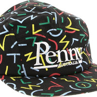 Penny 5 Panel Hat Adjustible Bel Air Black/Rasta