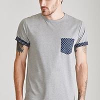 Heathered Polka Dot Pocket Tee