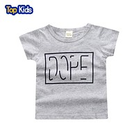 boys t shirt for summer Baby Cotton Short Sleeve Toddler Tees baby graphic Tops Children Clothing