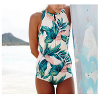 Leaf One Piece Swimsuit Bathing Suit