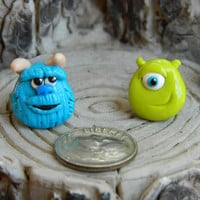 Sully and Mike from Monsters Inc studs