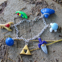 Legend of Zelda Inspired: Ocarina of Time Charm Bracelet