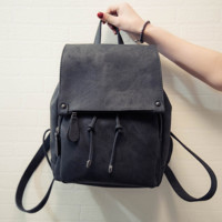 The New Leather Whale Pattern Backpack Travel Bag Daypack