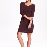 Old Navy Womens Fit & Flare Sweater Dress