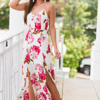 Dainty Dreams Maxi Dress, Ivory