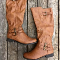 ONE STEP AHEAD BOOTS IN COGNAC