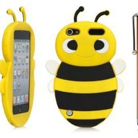 iPod Touch 5th Case, iSee Case (TM) 3D Cartoon Animal Bumble Bee Silicone Full Cover Case for Apple iPod Touch 5 5th Generation iTouch 5 (it5-Bee Yellow)