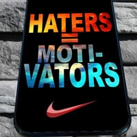 Nike Haters Motivation Nebula Galaxy for iPhone 4/4s/5/5S/5C/6, Samsung S3/S4/S5 Unique Case *95*