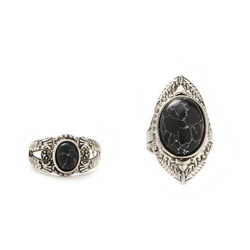 Faux Stone Ring Set | Forever 21 - 1000187423