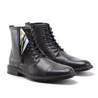 Jazamé Men's Stealth Distressed Secret Pocket Storage Military Combat Dress Boots