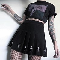 Pleated Cross Skirt