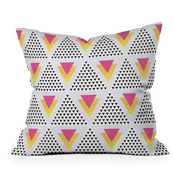 Elisabeth Fredriksson Triangles In Triangles Throw Pillow