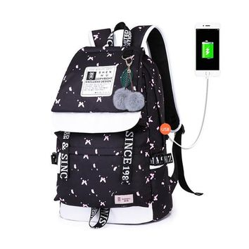 School Backpack trendy cute lemon print school bags for teenage girls notebook computer backpack kids  child bag women backpacks 2018 AT_54_4