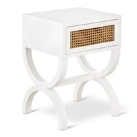 Threshold™ Accent Table with Cane Detail - White