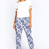 Mia Floral Print Woven Trousers