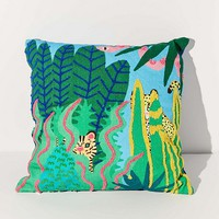 Jarmél By Jarmel For UO Wild Buddies Embroidered Throw Pillow | Urban Outfitters