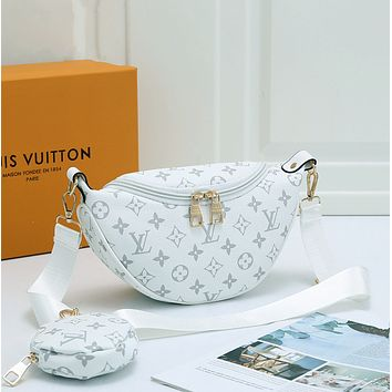 LV Louis Vuitton LV Fashion Women Leather Purse Waist Bag Single-Shoulder Bag