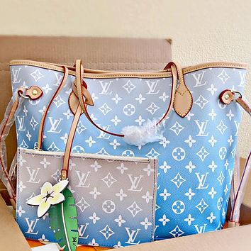 Louis Vuitton LV By The Pool Neverfull Women's Handbag Shopping Shoulder Bag Two-Piece Set