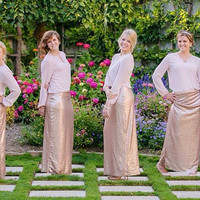 Gold, Champagne or Silver Sequin Maxi Skirt - CUSTOM MADE