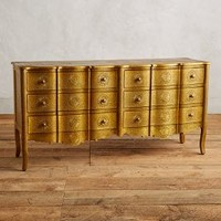 Hand-Embossed Six-Drawer Dresser by Anthropologie