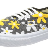 Vans Men's U Authentic Slim Trainers Black-Schwarz Spectra Yellow Daisy Synthetic And Textile Fashion Sneakers 38.5 EU