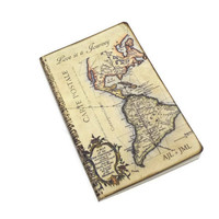 Personalized Travel Journal for Couples, Anniversary or Honeymoon Travel Log, Wedding Planner, Marriage Advice Book, Old World Map Notebook