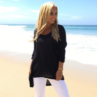 Leave Your Mark Knit Top In Black