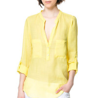 SHIRT WITH POCKETS - Tops - Woman | ZARA United States